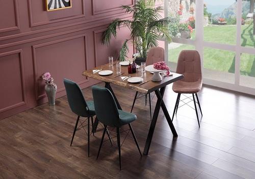 Forest- Banklı- Mutfak- Masa- Seti-sandalyeli