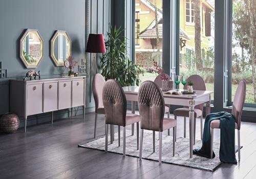 Luxe- Yemek -Odası- Takımı-kolluksuz-sandalyeli