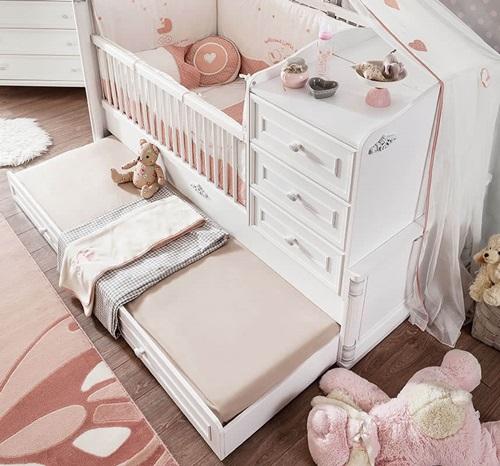 Romantic-Baby- Serisi-ek-yatakli-besik