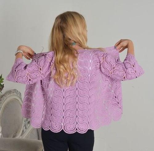 Lila-dantelli-tig-model-bayan-ceket