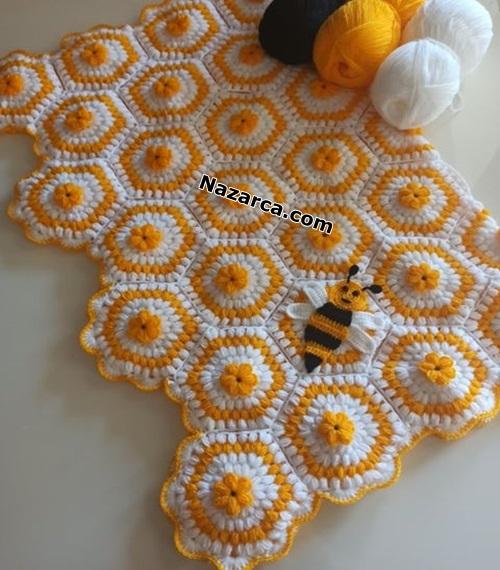 Arili-petekli-motifli-battaniye