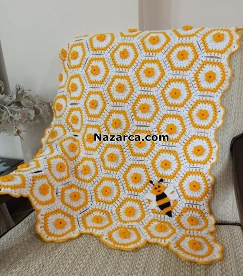ari-figurlu-tig-model-motifli-battaniye