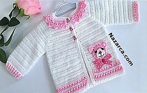 ayicikli-2-renk-pembe-beyaz-bebek-hirka
