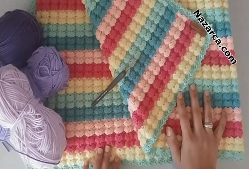 deniz-kabuklu-ornekli-renkli-tig-battaniye