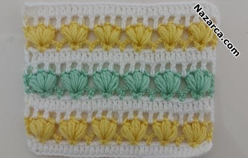 sirli-renkli-cicekleri-fistikli-battaniye