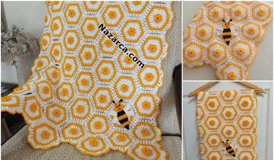 tigla-arili-petekli-motifli-2-renk-battaniye