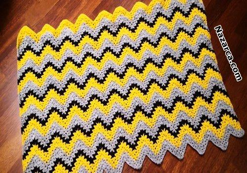 V-stitch- crochet -Baby- Blanket