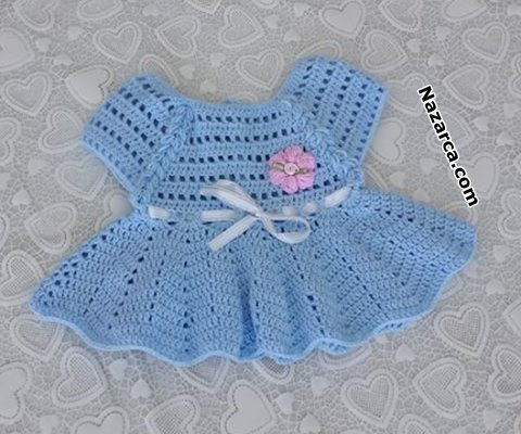 mavi-yeni-dogan-orme-bebek-elbiseler