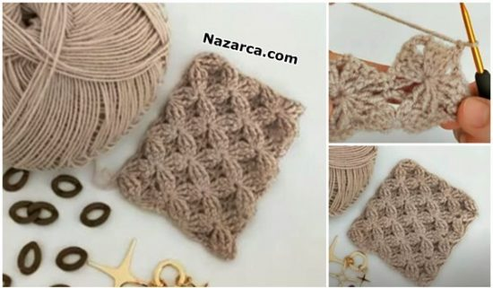 Nazarca-3D-Velvet- Stars -Crochet -Stitch