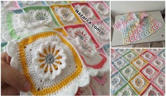 motifli-renkli-kabarik-cicekli-battaniye