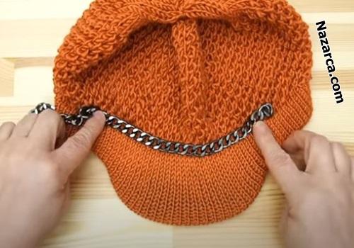 zincirli-turuncu-sis-model-kasket