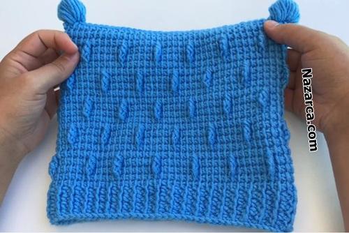2-ponponlu-kare-mavi-bebek-beresi