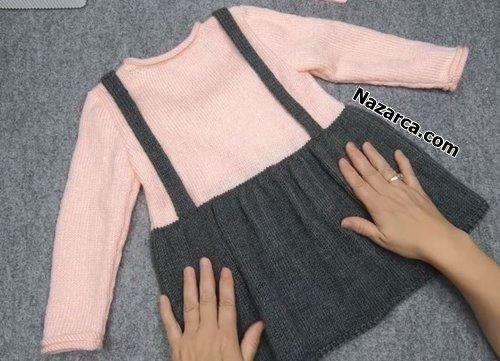 sosis-yakali-kedili-kiz-elbisesi