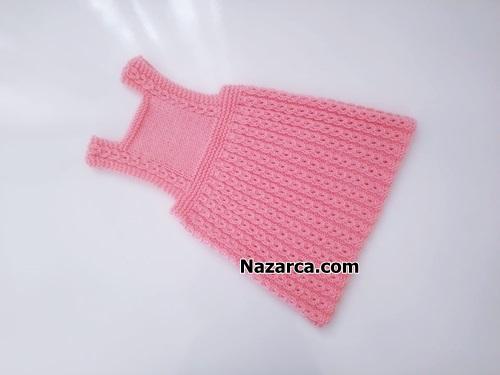 Nazarca-pembe-kahveli-model-bebe-elbisesi