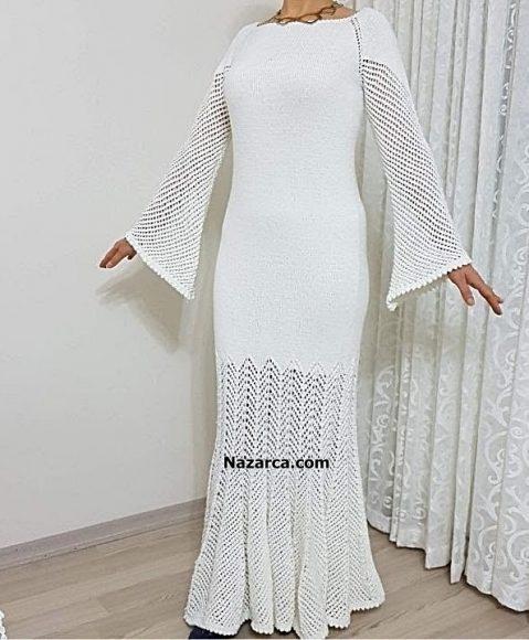 ispanyol-kollu-sis-orgu-beyaz-bayan-elbise