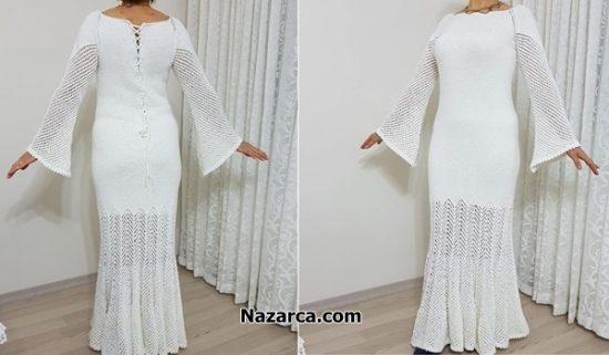 yarisma-birincisi-orgu-beyaz-uzun-elbise