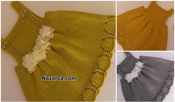 Nazarca-fistik-yesili-sis-orgu-kiz-bebek-elbisesi
