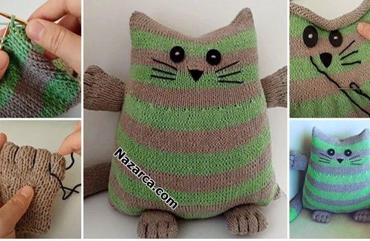 Nazarca-sisle-orgu-kedi-kirlent-uyku-arkadasi-oyuncak