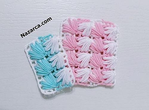 battaniye-lif-renkli-midye-ornegi