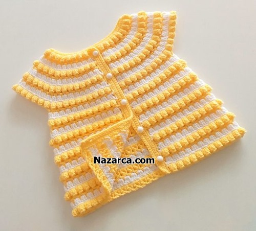 bebek-yelegi-popcorn-tigla-sari-beyazli