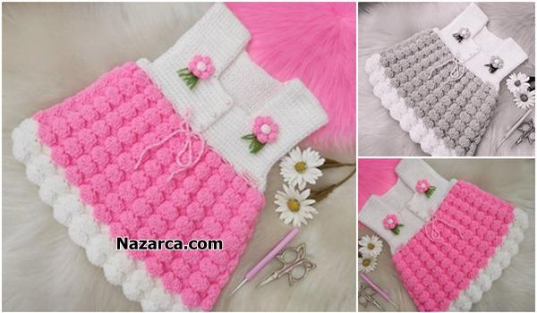 Nazarca-pembe-tomurcuklu-tig-model-kiz-elbise