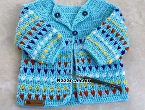 Tigla-alti-renkli-bebek-ceketi