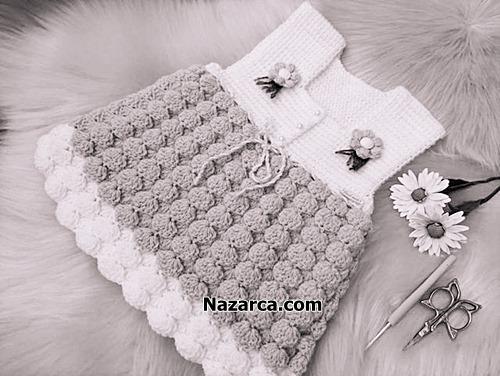 gri-beyaz-bebek-elbise