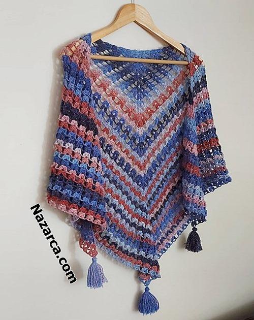 Crochet shawl- shawl pattern- knitting