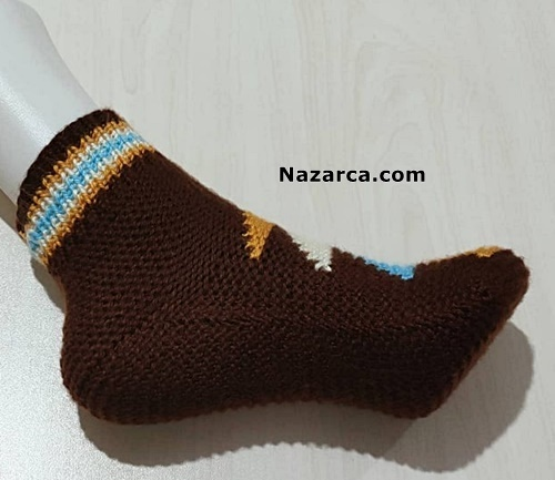 Two -Needle-Knitted-Socks