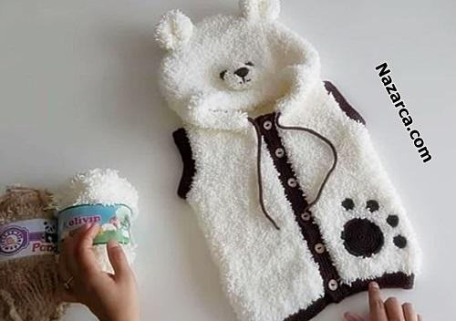 beyaz-kapisonlu-pelus-panda-bebek-yelşegi