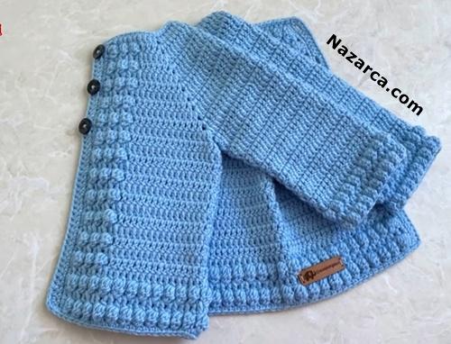 mavi-nohut-bebek-ceket-yapimi