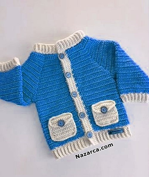 Mavi-beyaz-bebek-ceket-tig-teknigi